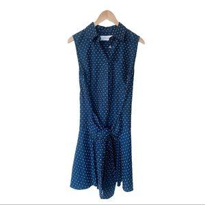 Derek Lam 10 Crosby Poplin Sleeveless Shirt Dress